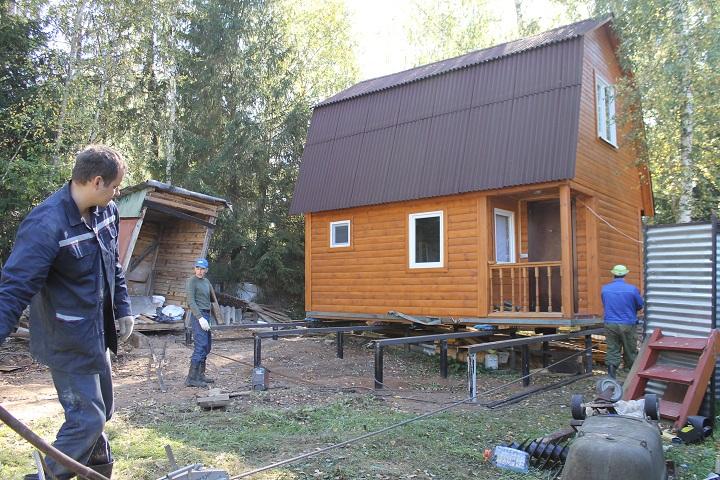 Как поднять и перенести дом без демонтажа?