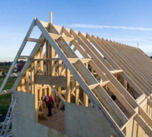 Монтаж двухскатной крыши